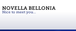 Novella Bellonia | Nice to meet you